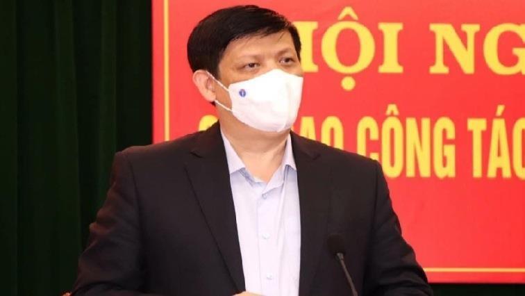 Bộ trưởng Y tế Nguyễn Thanh Long phát biểu tại buổi làm việc.