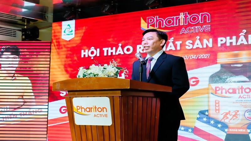 Ông Lê Thanh Tùng - Phó Tổng Giám đốc Kinh doanh TV.PHARM phát biểu tại Hội thảo