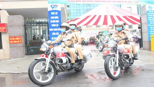 Công an TP Hà Nội ra quân bảo đảm an ninh, trật tự bầu cử