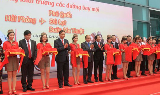 Vietjet mở thêm 3 đường bay mới từ sân bay Cát Bi
