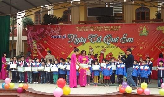 Một hoạt động của thầy trò Trường tiểu học Thái Phiên