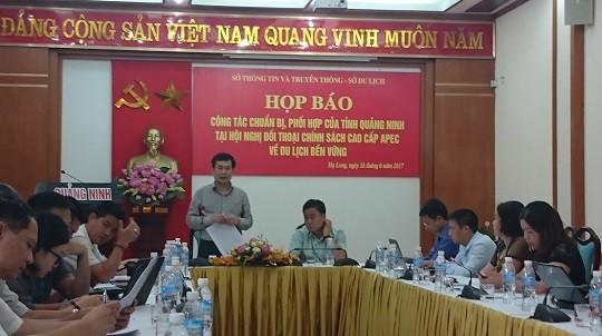 Họp báo về công tác tổ chức của tỉnh Quảng Ninh