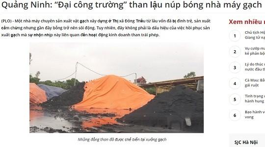 """Chủ tịch Thị xã Đông Triều, Quảng Ninh: sản phẩm """"đen đen"""" không phải là than!"""