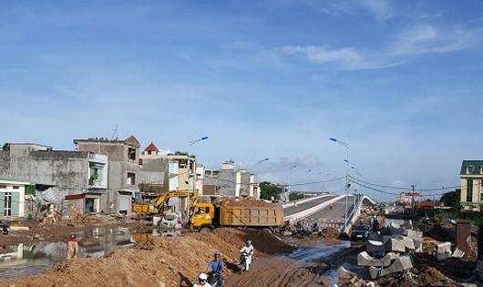 Khắc phục vết nứt tại cầu vượt ngã ba Nguyễn Bỉnh Khiêm - Đình Vũ
