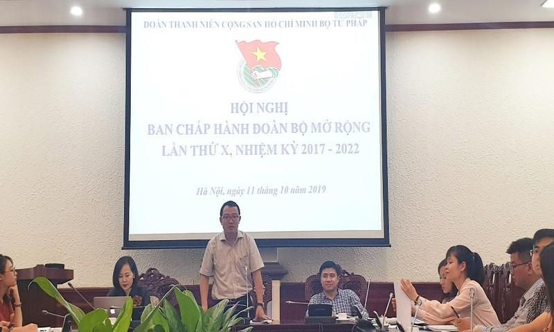 Nhiều đổi mới, sáng tạo trong hoạt động đoàn tại Bộ Tư pháp