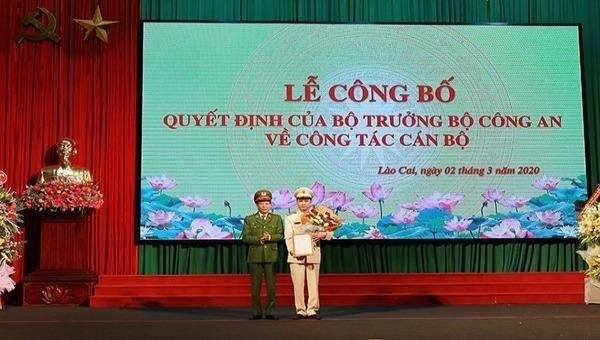 Bổ nhiệm Giám đốc Công an tỉnh Lào Cai