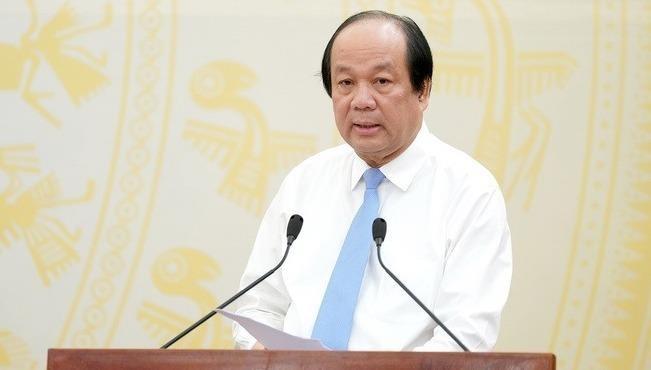 Bộ trưởng - Chủ nhiệm Văn phòng Chính phủ Mai Tiến Dũng tại buổi họp báo.