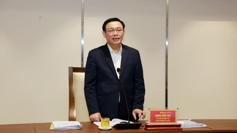Bí thư Thành ủy Vương Đình Huệ làm việc với Ban Chấp hành Đoàn Thanh niên Cộng sản Hồ Chí Minh TP Hà Nội.