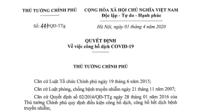 3 mục tiêu của Thủ tướng khi quyết định công bố dịch Covid-19 trong cả nước