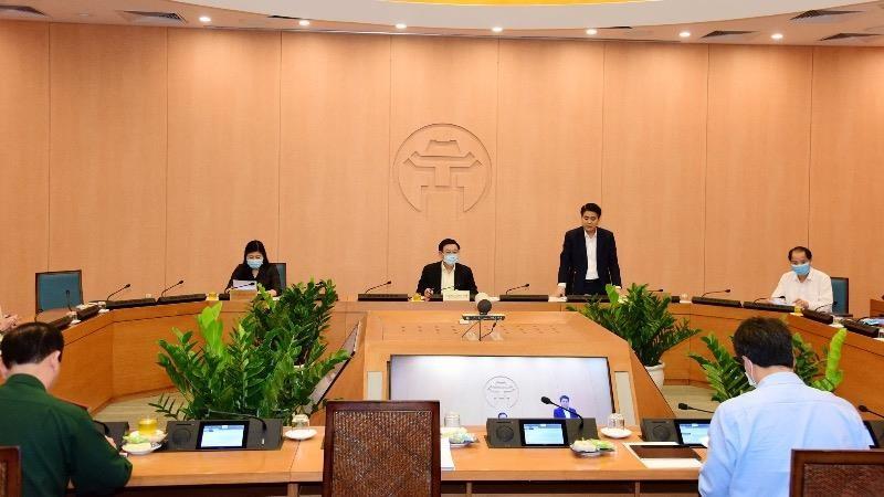 phiên họp trực tuyến thứ 32 của an Chỉ đạo phòng chống dịch Covid -19 TP  với các quận huyện, phường xã.