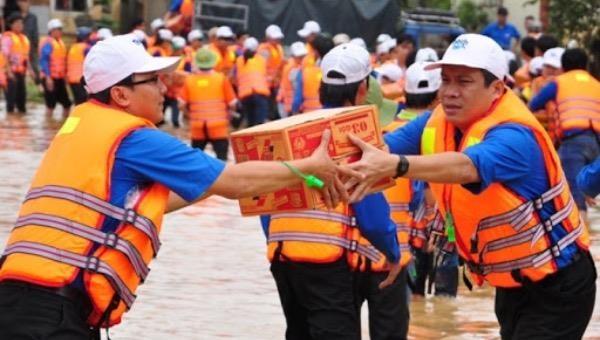 Vận chuyển hàng cứu trợ. (Ảnh minh họa)