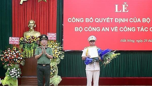 Bộ Công an bổ nhiệm Phó Giám đốc Công an 2 tỉnh Đắk Nông, Lai Châu