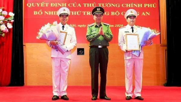 Đại tướng Tô Lâm trao quyết định bổ nhiệm cho 2 Thứ trưởng Bộ Công an.
