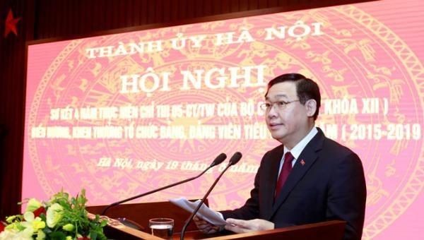 Bí thư Thành ủy Vương Đình Huệ.