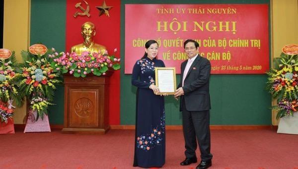 Trưởng Ban Dân nguyện Nguyễn Thanh Hải nhận chức Bí thư Tỉnh ủy Thái Nguyên