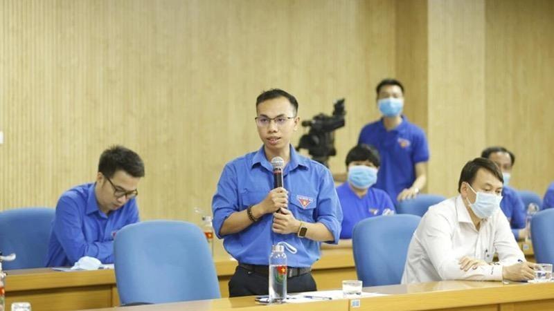 Một sinh viên Đại học Cần Thơ tham gia đối thoại trực tuyến với Bí thư thứ nhất Trung ương Đoàn Lê Quốc Phong hồi tháng 3/2020.