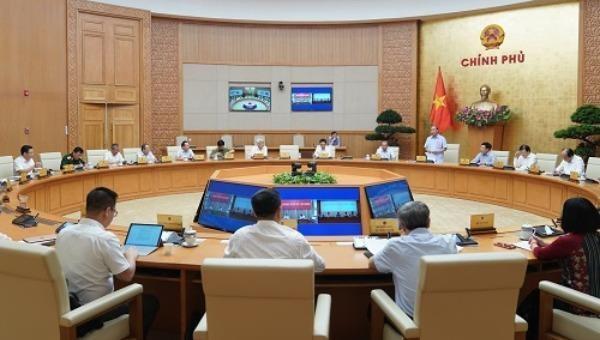 Toàn cảnh cuộc họp Thường trực Chính phủ ngày 9/6.