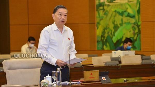 Bộ trưởng Bộ Công an Tô Lâm. (Ảnh: Quochoi.vn)