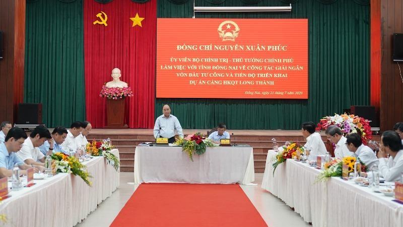 Thủ tướng phát biểu tại buổi kiểm tra Dự án sân bay Long Thành, Đồng Nai.