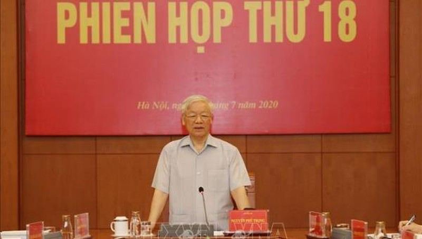 Tổng Bí thư, Chủ tịch nước Nguyễn Phú Trọng kết luận phiên họp.