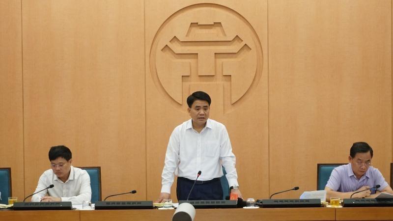 Chủ tịch UBND thành phố Nguyễn Đức Chung phát biểu tại cuộc họp chiều 01/8