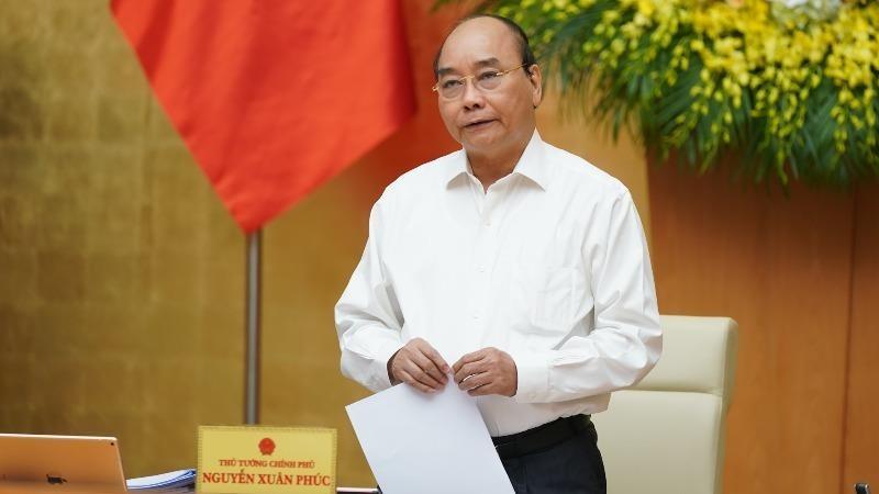Thủ tướng Nguyễn Xuân Phúc kết luận phiên họp Chính phủ thường kỳ.