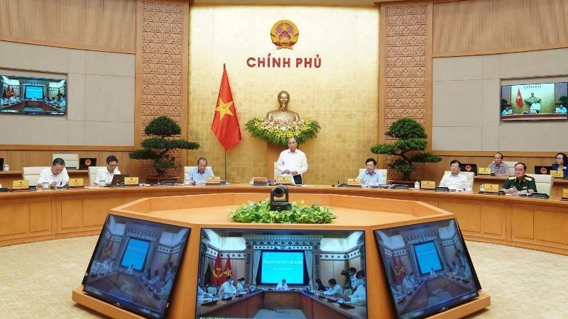 Toàn cảnh phiên họp Chính phủ thường kỳ tháng 7.