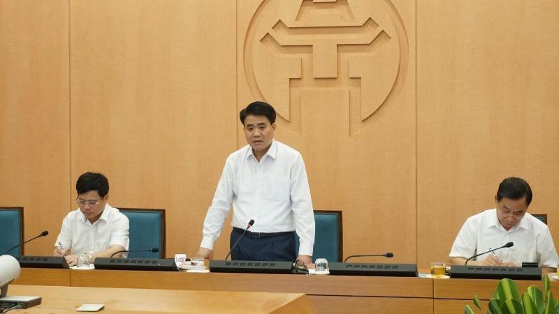 Chủ tịch UBND thành phố Hà Nội Nguyễn Đức Chung phát biểu kết luận.