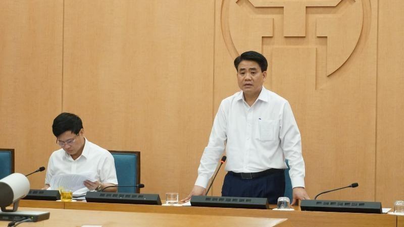 Chủ tịch UBND thành phố Hà Nội Nguyễn Đức Chung kết luận phiên họp.