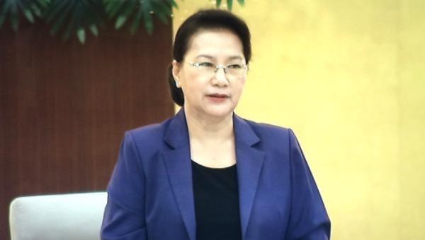 Chủ tịch Quốc hội Nguyễn Thị Kim Ngân phát biểu khai mạc