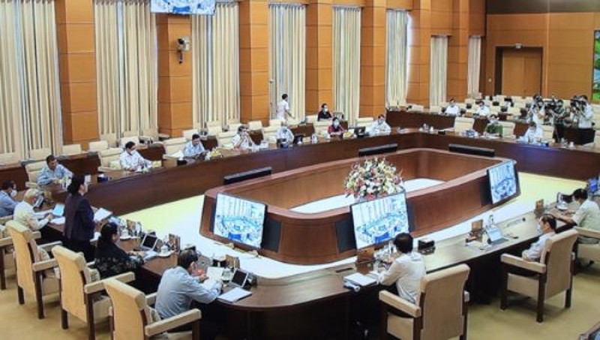 Toàn cảnh Phiên họp thứ 47 của Ủy ban Thường vụ Quốc hội.