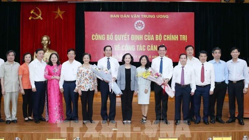 Trao quyết định giữ chức Phó Trưởng ban Dân vận Trung ương cho ông Nguyễn Hồng Lĩnh