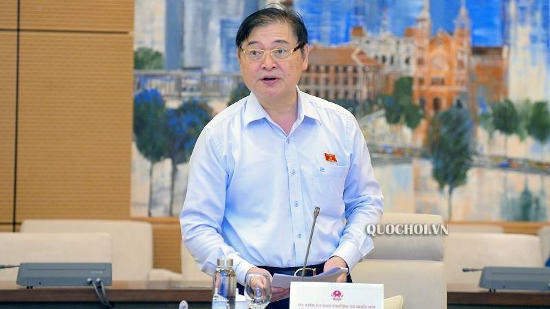 Chủ nhiệm Ủy ban Khoa học, công nghệ và Môi trường Phan Xuân Dũng báo cáo về Dự án Luật Bảo vệ môi trường (sửa đổi). Ảnh: quochoi.vn