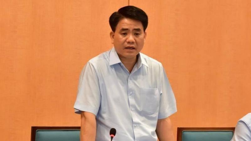 Ông Nguyễn Đức Chung khi còn là Chủ tịch UBND thành phố Hà Nội.