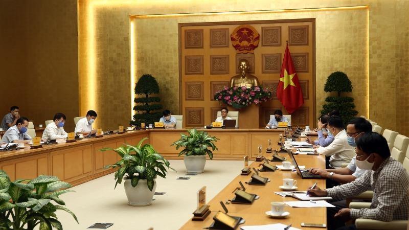 Toàn cảnh cuộc họp Ban Chỉ đạo quốc gia ngày 18/8.