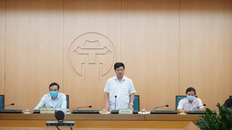 Phó Chủ tịch UBND thành phố Ngô Văn Quý kết luận phiên họp chiều 19/8.