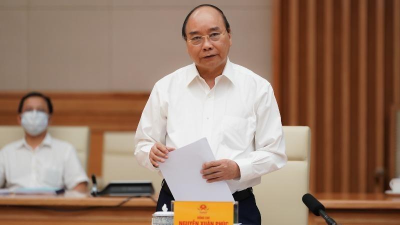 Thủ tướng Nguyễn Xuân Phúc phát biểu tại buổi làm việc với Ban Thường vụ Thành ủy TP HCM.