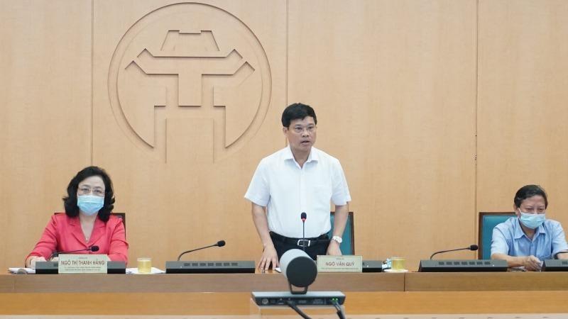 Phó Chủ tịch UBND thành phố Hà Nội kết luận phiên họp.