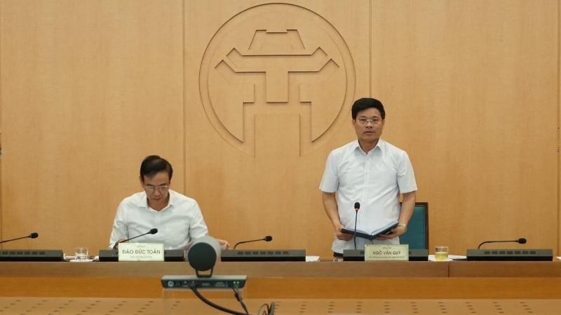Phó Chủ tịch UBND TP Hà Nội Ngô Văn Quý kết luận phiên họp chiều 31/8.