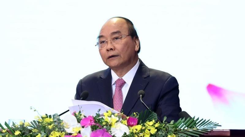Thủ tướng Nguyễn Xuân Phúc phát biểu tại Đại hội. (Ảnh: TTXVN)