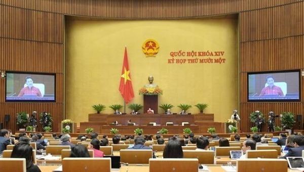 Quang cảnh Kỳ họp thứ 11 Quốc hội khóa XIV.