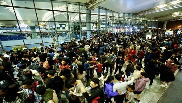 Dịp Tết sân bay Nội Bài tăng hơn 150 chuyến/ngày