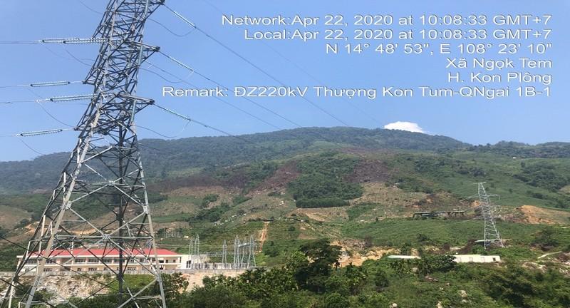Đóng điện đường dây 220kV Thượng Kon Tum - Quảng Ngãi