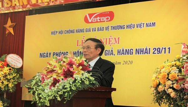 Ông Lê Thế Bảo phát biểu tại Lễ kỷ niệm Ngày phòng chống hàng giả.