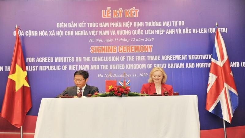 Kết thúc đàm phán Hiệp định thương mại tự do Việt Nam - Vương quốc Anh