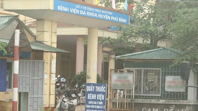 Bệnh viện Đa khoa huyện Phú Bình (Thái Nguyên)  - nơi bệnh nhân chết bất thường