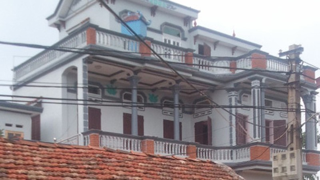 Căn nhà gia đình ông Việt, nơi xảy ra vụ xô xát nghiêm trọng.