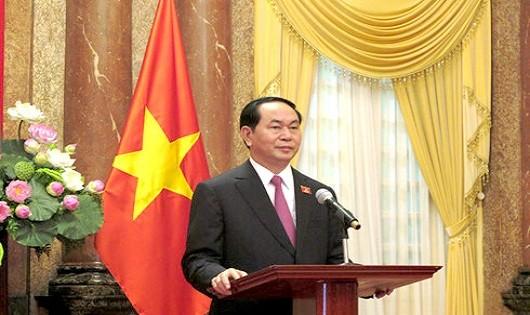 Chủ tịch nước Trần Đại Quang. Ảnh: Chinhphu.vn