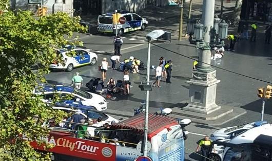 Chưa có thông tin người Việt Nam bị nạn trong vụ tấn công tại Barcelona