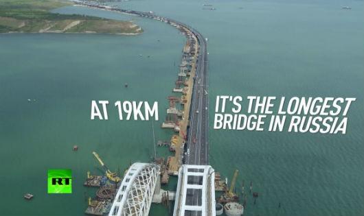 Cầu Crimea là cầu dài nhất của Nga, cũng là cầu dài nhất châu Âu.
